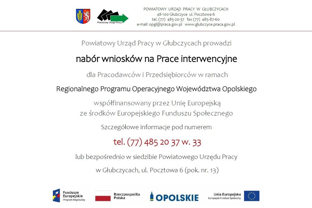 Plakat - nabór wniosków na Prace interwencyjne.jpeg