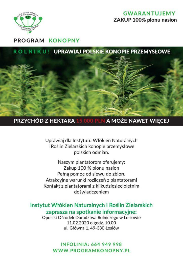 Program Konopny - spotkanie w Łosiowie